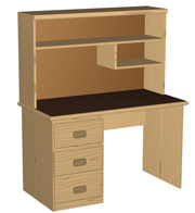 Bedroom Computer Student Desk Woodworking Desk Plans - Computer desk with hutch plans