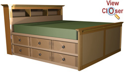 Woodworking king size bed frame plans with drawers PDF Free Download