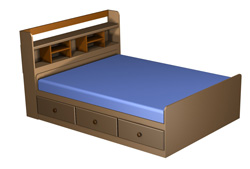 Captain Bed Plans Drawers