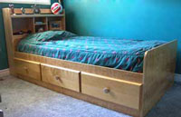 twin bed building plans