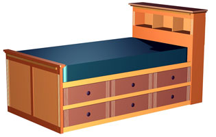 Twin Bed with Storage Plans