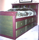 Queen High Storage Bed Plans