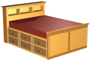 double size high bed plan is a modified version of our queen high bed